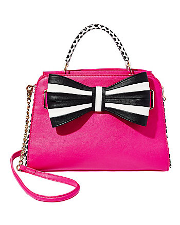 ONE TWO THREE BOW SATCHEL