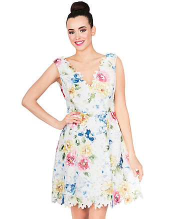 PAINTERLY FLORAL DRESS