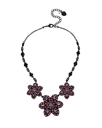 PANTHER FLOWER FRONTAL NECKLACE