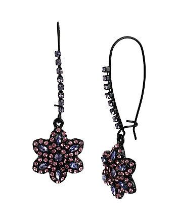 PANTHER FLOWER HOOK EARRINGS