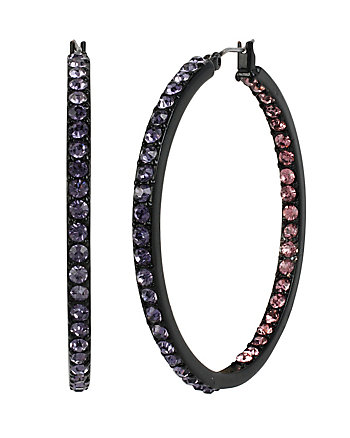 PANTHER INSIDE OUT HOOP EARRINGS