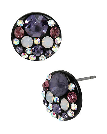 PANTHER PURPLE ROUND STUD EARRINGS