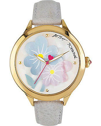PASTEL FLOWERS GREY WATCH