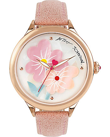 PASTEL FLOWERS PINK WATCH