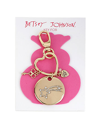 PAVE SHOOTING STAR KEYCHAIN