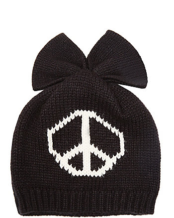 PEACE OUT BOW BEANIE