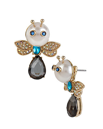 PEARL CRITTERS BUG FRONT BACK EARRINGS