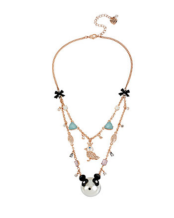 PEARL CRITTERS OWL BIRD ILLUSION NECKLACE