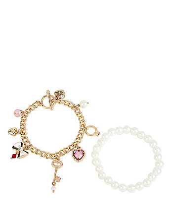 PEARL KEY DUO BRACELET SET