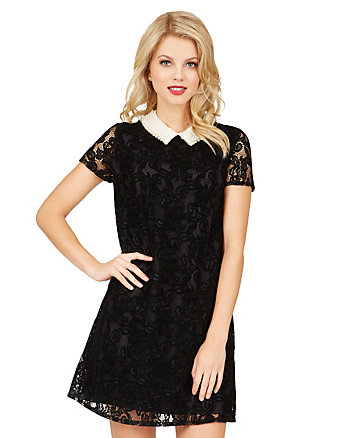 PEARLS AND LACE DRESS
