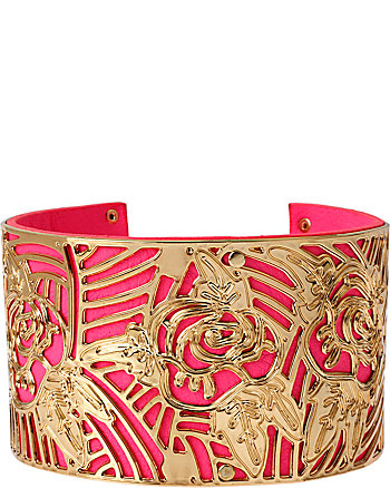 PHOTO ETCH ROSE CUFF BRACELET