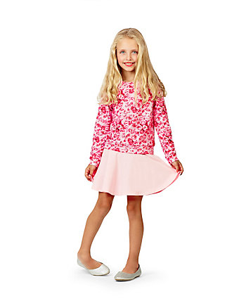 PHOTOREAL ROSES TWO PIECE GIRLS 4-6X SET