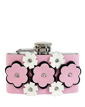 PINK FLOWERS FLASK