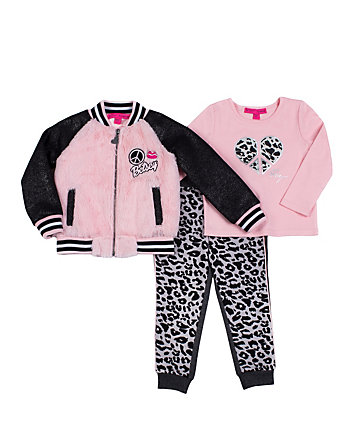 PINK LADY TODDLER THREE PC JACKET SET