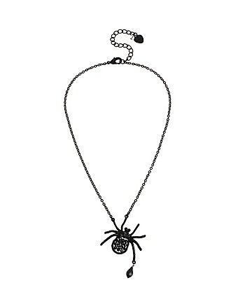 PITCH BLACK SPIDER PENDANT
