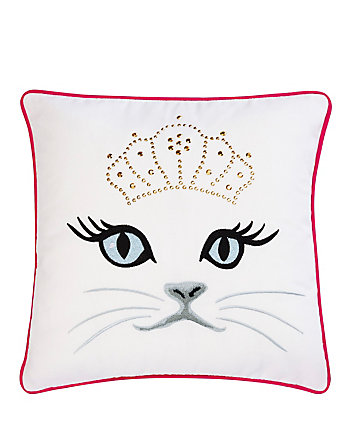 POLISHED PUNK CAT FACE PILLOW