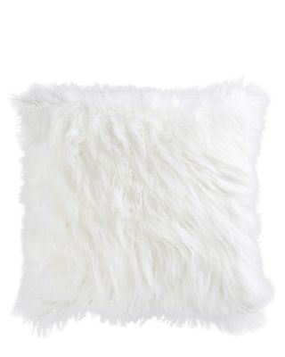 POLISHED PUNK SHAG PILLOW WHITE
