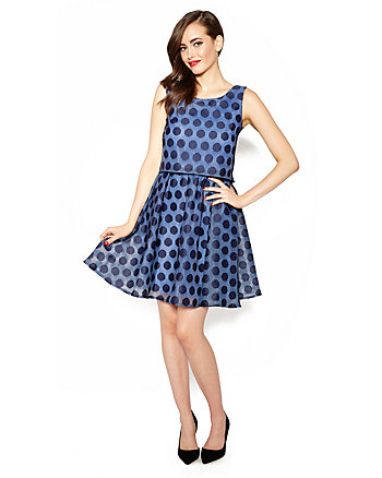 POLKA DOT POP OVER DRESS