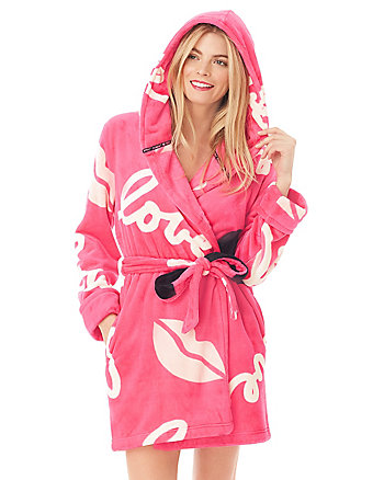 POP ART LOVE PLUSH ROBE