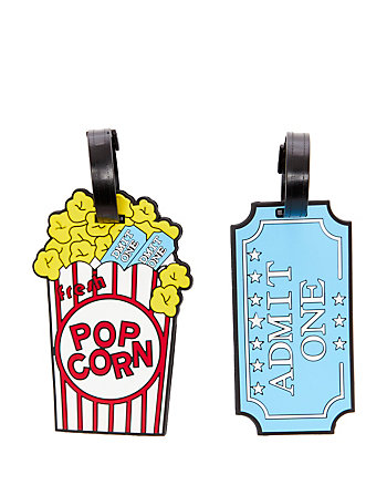 POPCORN LUGGAGE TAG SET