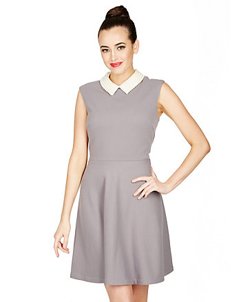 PRETTY BETSEY COLLARED DRESS