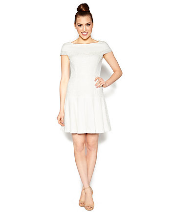 PRIMLY PERFECT WHITE SPRING DRESS