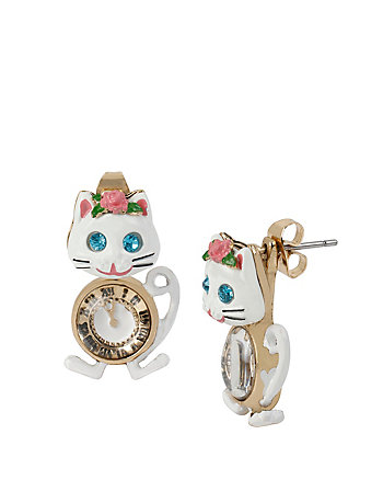 PRINCESS CHARMING CAT CLOCK FRONT BACK
