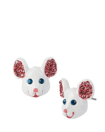 PRINCESS CHARMING MOUSE STUD EARRINGS