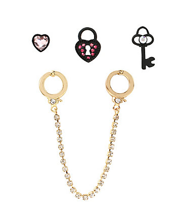 PRISONER OF LOVE HANDCUFF STUD SET
