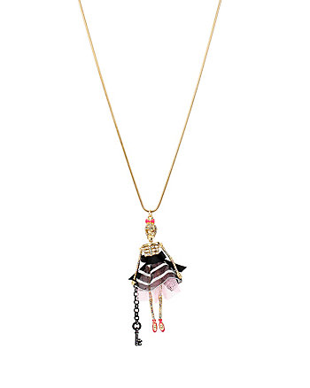 PRISONER OF LOVE SKULL GIRL NECKLACE