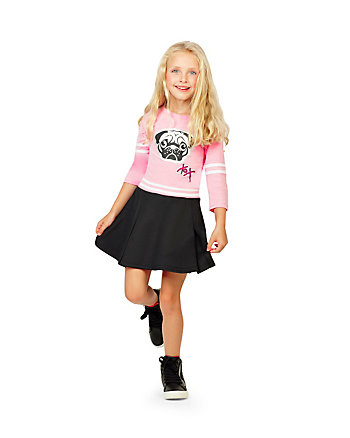 PUGTASTIC TWO PIECE GIRLS 4-6X SET