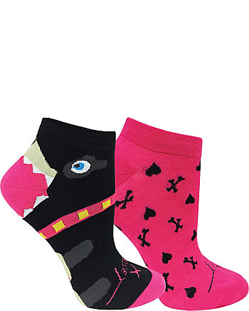 PUPPY LOVE 2 PACK NO SHOW SOCKS