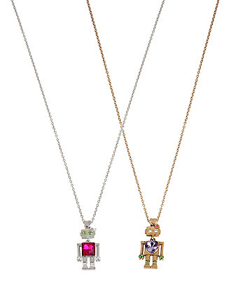 ROBOTS DUO NECKLACE SET
