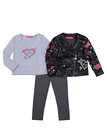 ROCKER GIRL TODDLER THREE PC JACKET SET