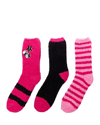 ROLL THE DICE COZY SOCK THREE PACK