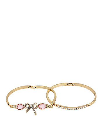 ROSE BOW DUO BANGLE SET