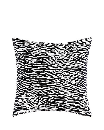 ROSE GARDEN ZEBRA PILLOW