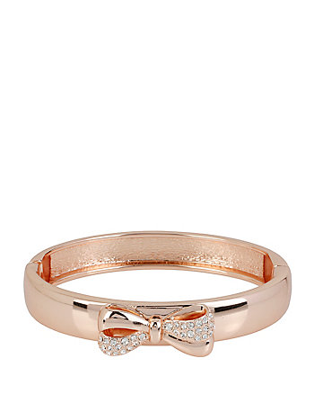 ROSE GOLD BOW HINGE BANGLE