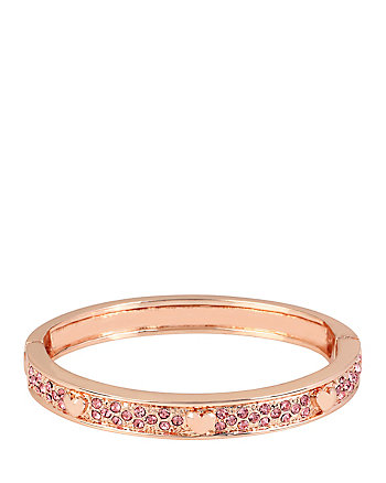 ROSE GOLD HEART HINGE BANGLE