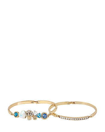 ROSE SKULL DUO BANGLE SET