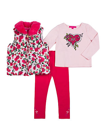 ROSEY POSEY TODDLER THREE PC VEST SET