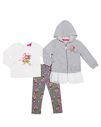 ROSEY RUFFLES TODDLER THREE PC JACKET SET