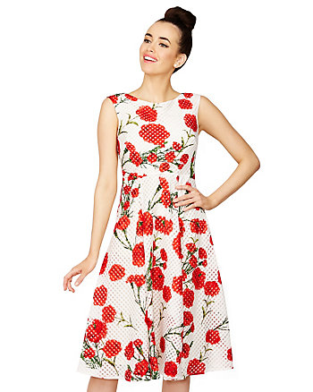 SEEING RED FLOWERS DRESS