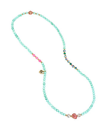 SEMI PRECIOUS HEART STRETCH BRACELET AND NECKLACE