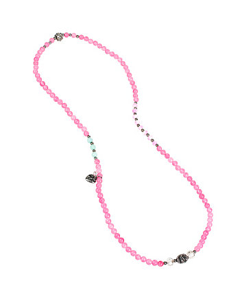 SEMI PRECIOUS SKULL STRETCH BRACELET AND NECKLACE