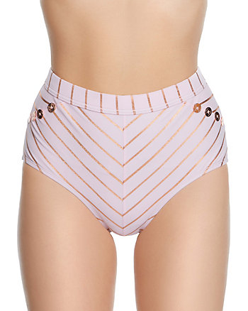 SHIMMER STRIPES HIGH WAIST BOTTOM