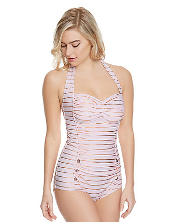 SHIMMER STRIPES ONE PIECE