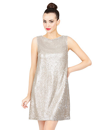 SHIMMERING TINY SEQUIN DRESS