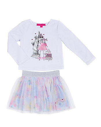 SHOPPING GIRL 4-6X TWO PC TUTU SET