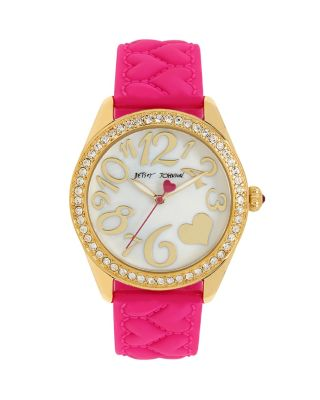SILICONE HEARTS PINK WATCH PINK